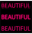 text of pink color glowing vector image