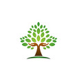 tree hand logo concept wellness symbol icon design vector image