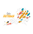 trendy autumn season with leaves vector image vector image