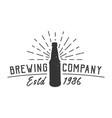 vintage brewing company logotype concept vector image