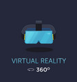 vr headset icon virtual reality glass vector image vector image