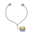 walkman music player icon vector image