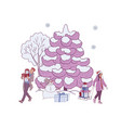 winter holiday banner vector image vector image