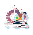 yacht party concept for web banner website vector image