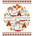 Seamless Colored Tribal American Badge Label vector image