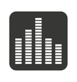 equalizer waves isolated icon vector image