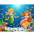 a mermaid under sea vector image