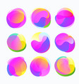 abstract color forms gradient fluid circles in vector image vector image
