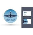 airplane logo design template journey or travel vector image vector image