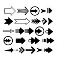 arrows set different arrows isolated on vector image vector image
