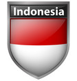 badge design for indonesia flag vector image vector image