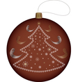 ball for the Christmas tree vector image vector image