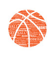 basketball text silhouette vector image
