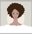 beautiful african american young woman taking bath vector image