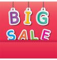 big sale tag vector image vector image