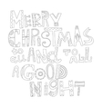 Black and white Christmas greetings for coloring vector image vector image