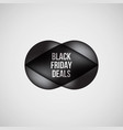 black friday deals bubble badge vector image vector image