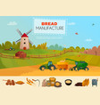 bread manufacture poster vector image vector image