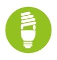 bulb light eco energy icon vector image