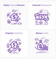 business and finance flat colorful icon set vector image