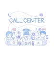 call center customer service theme icons related vector image