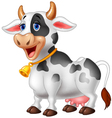 Cartoon Happy cartoon cow vector image vector image