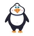 Cheerful cute penguin fat birdie standing funny vector image vector image