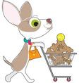 chihuahua shopping vector image vector image