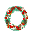 Christmas decoration Wreath with pine cones vector image vector image