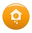 clock creative icon orange vector image