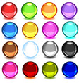 collection colorful glossy spheres vector image
