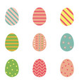 color easter eggs for spring holiday vector image vector image