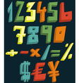 colorful 3d numbers vector image vector image
