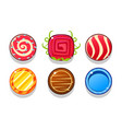 colorful glossy balls set shiny candies game vector image vector image