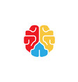 creation colorful brain logo vector image vector image