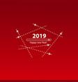 creative happy new year 2019 design with progress vector image vector image