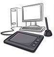 digital graphics tablet vector image vector image