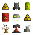 environment nuclear and biological weapons vector image