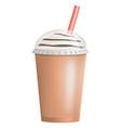 fresh ice latte icon realistic style vector image