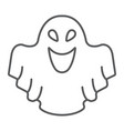 ghost thin line icon fear and halloween vector image