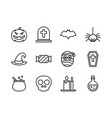 halloween icon set outline style symbols for vector image vector image