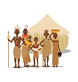 happy african family mother father children vector image
