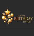 happy birthday congratulations card template vector image