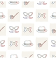 Hipster seamless pattern with ties and glasses vector image vector image