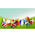 international easter eggs vector image