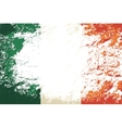 Irish flag Grunge background vector image vector image
