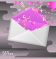 mail mockup on abstract memphis background vector image