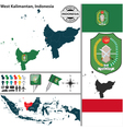 Map of West Kalimantan vector image vector image