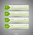 Modern tabs as design elements Business symbols vector image