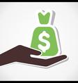 money bag in hand vector image
